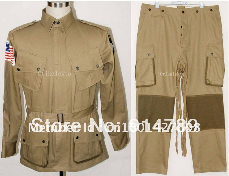 US $134 49 |SURPLUS WWII US M42 AIRBORNE JACKET TROUSERS MEN MILITARY  UNIFORM AIRSOFT TACTICAL CLOTHES IN SIZES 45421-in Medical from Novelty &