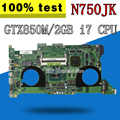 N750JK Motherboard GTX850M I7-4700HQ For ASUS N750J N750JV Laptop motherboard N750JK Mainboard N750JK Motherboard test 100% OK