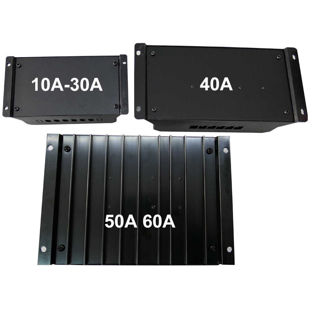 PWM Solar Charge Controller 10A 20A 30A 40A 50A 60A LCD Dual USB 5V Lead-acid and Li Battery 12V 24V Auto Solar Panel Regulator