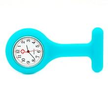 Высокое качество силиконовые медсестры часы доктор Карманный Брелок Брошь медсестры часы Туника батареи медицинские кварцевые часы Прямая поставка