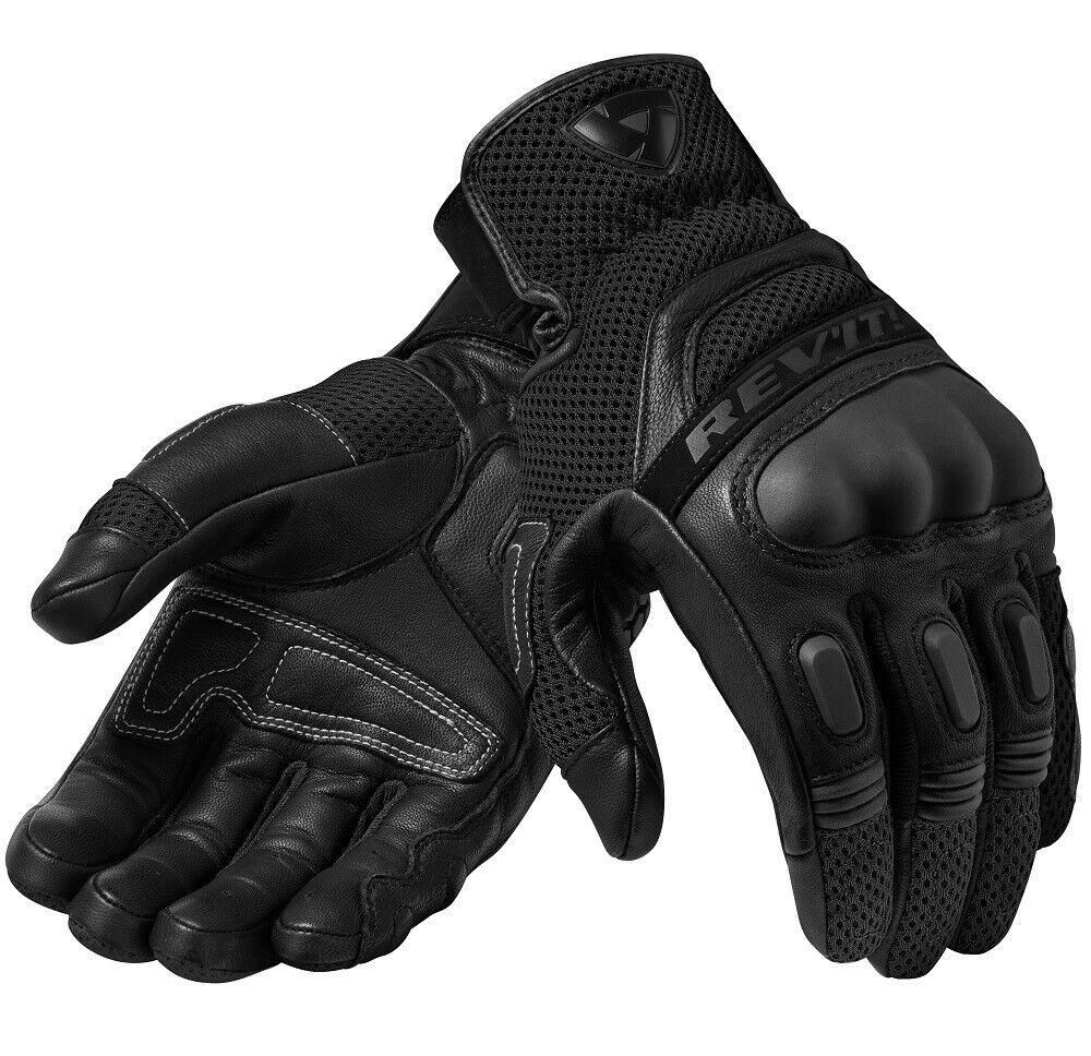Livraison gratuite 2019 Revit Dirt 3 hommes gants en cuir noir Moto Moto GP hors route gants de course