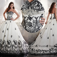 Embellished White Wedding Dress Bridal Gown Court train
