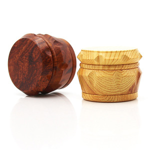Image 1 - New Arrival Wooden Herb Grinder 63 MM 3 Layers Spice Herb Grinder with Metal Teeth Tobacco Hand Grinder Crusher Party Gifts 2019