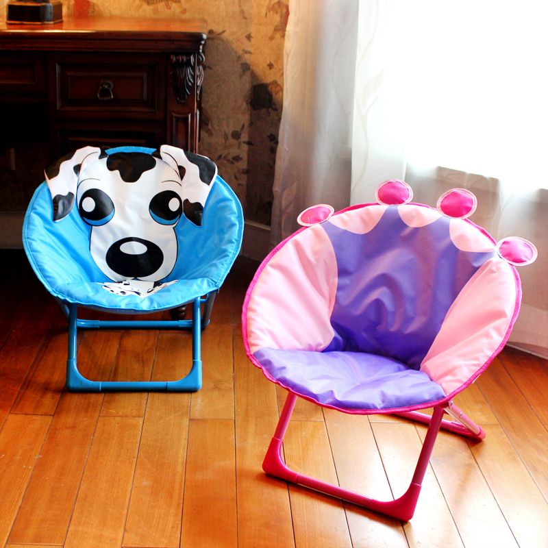 Children's Foldable Bedroom Playroom Moon Chair Moon Chair