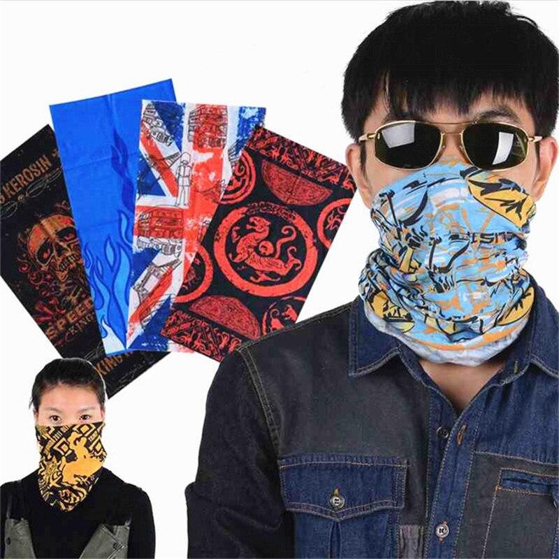 Scarf Men Skull Bandana Headband Outdoor Sports Bicycle Multi Functional Seamless Tubular Magic Face Mask Tube Scarf Ring A282