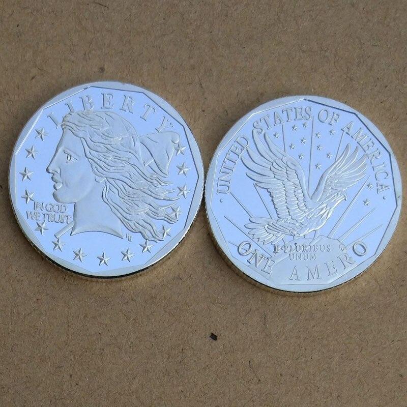 Bellissimo Gli Stati Uniti La Statua Della Libertà Pacifica Cap Sliver Coin Bald Eagles Medaglia Souvenir Monete Commemorative Non-valuta Di Arte Del Mestiere