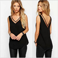 2016 Summer Ladies Black Tops Chiffon Shirts Blouses Women Sheer Cheap Clothes China Hollow Out Solid Plus Size MT007