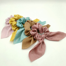 New Style Pure Color Head Takes Circle Rabbit Ear Hair Rope Cloth Art Females To Act The Role Article Turban