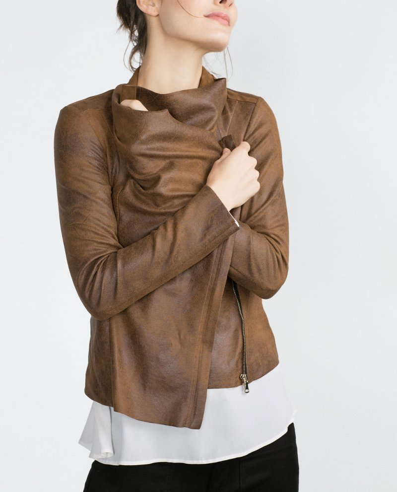 Popular Women&amp39s Brown Leather Jacket-Buy Cheap Women&amp39s