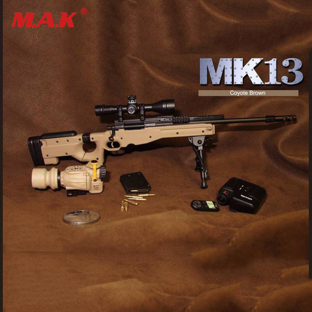 1:6  Soldier Weapon Model MK13 Sniper Rifle USMC Gun Toy for 12 inches Action Figure Collections 2017 new mk14 modo sniper rifle weapon gun for 1 6 scale12 action figure 1 6 model toy free shipping christmas gift high qualit