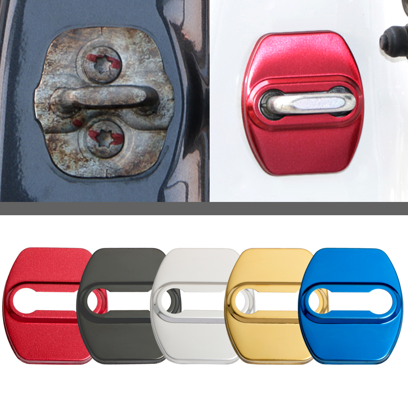 Car Styling Auto Door Lock Protection Stainless Steel Cover Case For Hyundai New Tucson 2016 2017 Refitting Accessories