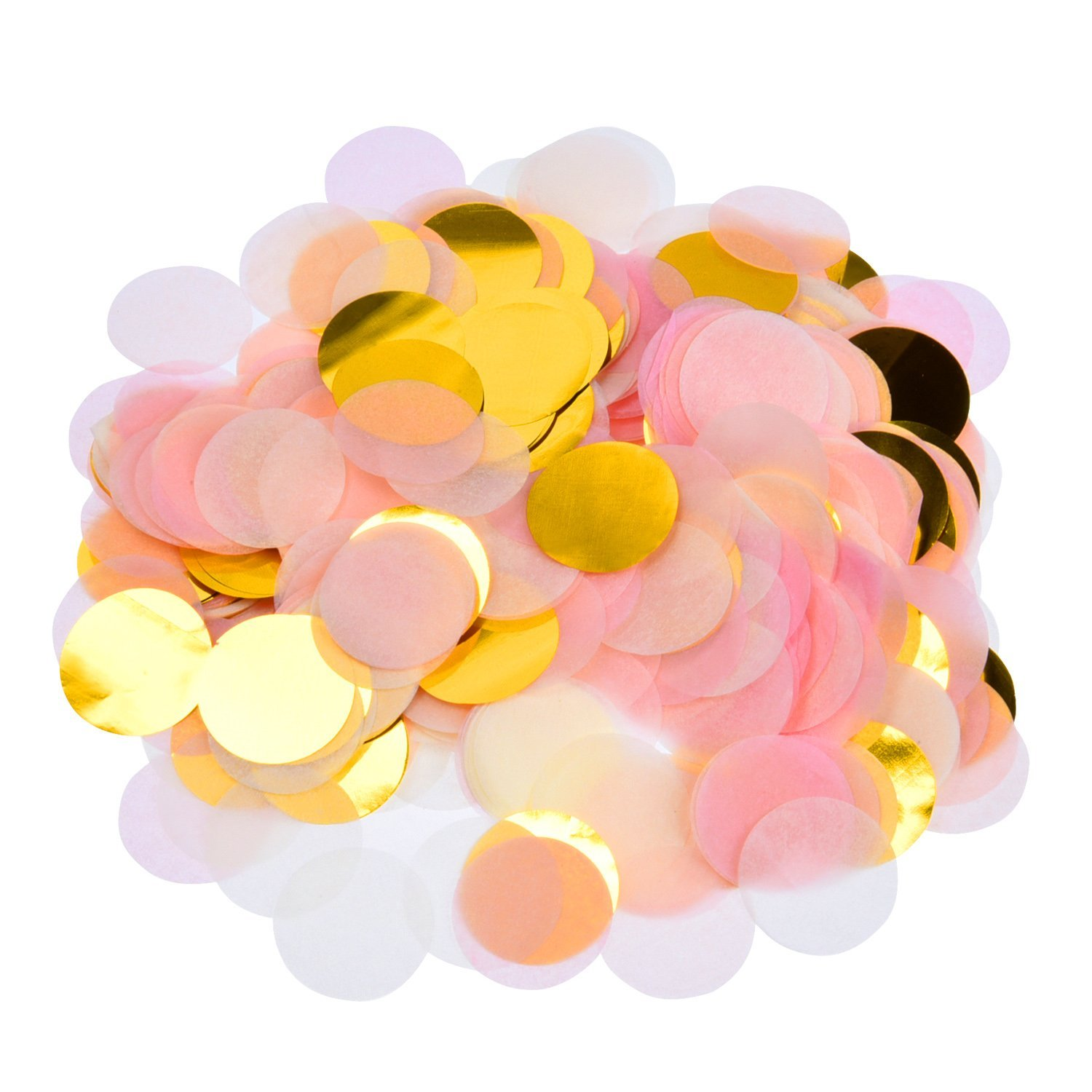 50g 5000+Pieces Paper Confetti 1 Inch Round Tissue Paper Table Confetti Dots for Wedding ...