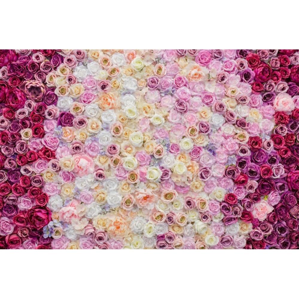 Laeacco flores cluster rosa casamento fotografia backdrops bebê crianças retrato parede fundos fotográficos para estúdio de fotos