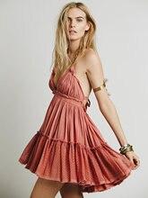 2017 Boho Dress Women Summer Sleeveless Backless Sexy Dress High Waist Holiday Strapless Dress Sexy Hippie Beach Dress Vestido