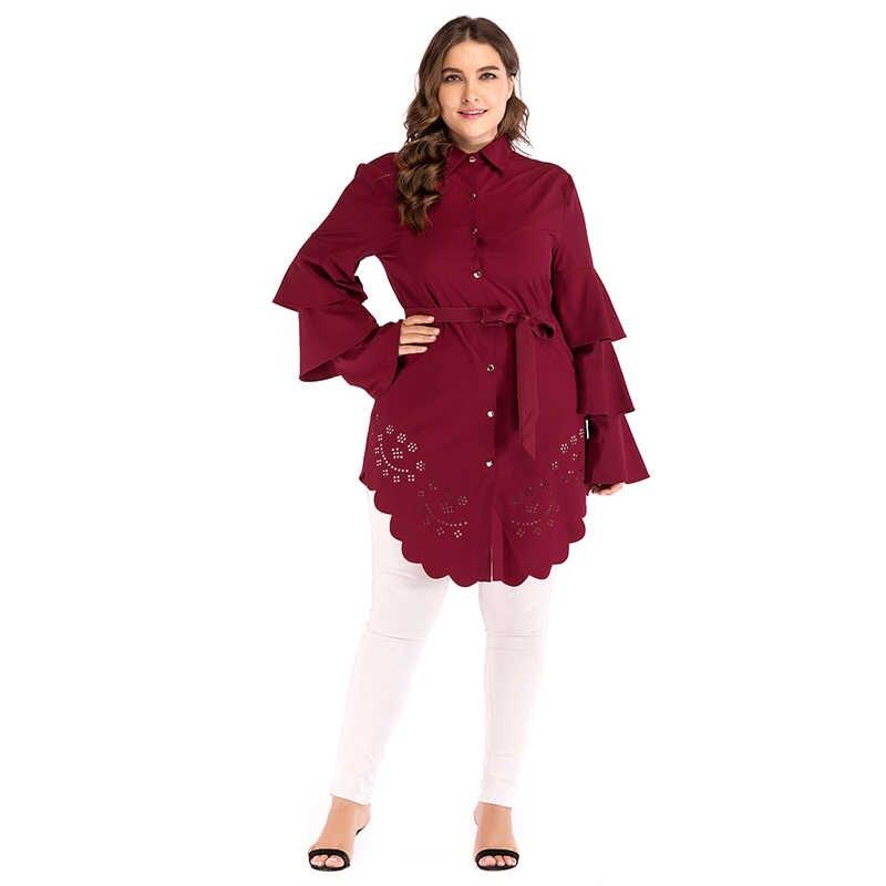 قميص نسائي تركي عربي مقاس كبير 5XL 2019 ملابس نسائية إسلامية طويلة للعباية العربية السعودية رداء علوي طويل ملابس إسلامية Ropa Musulmana Mujer