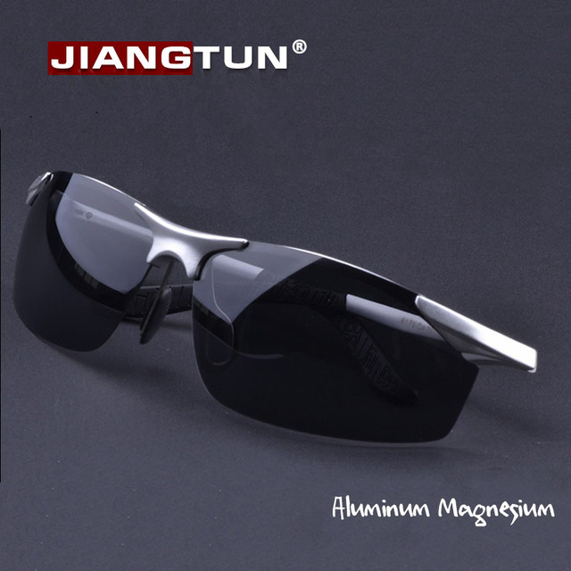 JIANGTUN Aluminum Magnesium Frame Driving Eyewear Male Polarized Sunglasses Brand Designer  Sun Glasses For Outside Oculos
