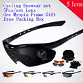 1 set/lote 5 Lens na venda de marca Mens Unisex óculos UVA UVB Sports óculos de sol viagem à prova de vento óculos de sol Eyewear oculos de sol