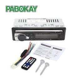 Bluetooth V2.0 JSD-520 estéreo Autoradio de la Radio del coche 12V 12V en el tablero de 1 Din FM Entrada Aux receptor USB SD MP3 MMC WMA reproductor de Audio JSD520