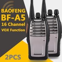 מכשיר הקשר (2 PCS) Baofeng UHF מכשיר הקשר BF-A5 16CH VOX + מערבל פונקציה משלוח חינם שני הדרך רדיו (2)