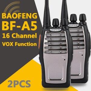 Image 2 - (2 PCS) BaoFeng UHF ווקי טוקי BF A5 16CH VOX + שלגון פונקצית משלוח חינם שתי דרך רדיו