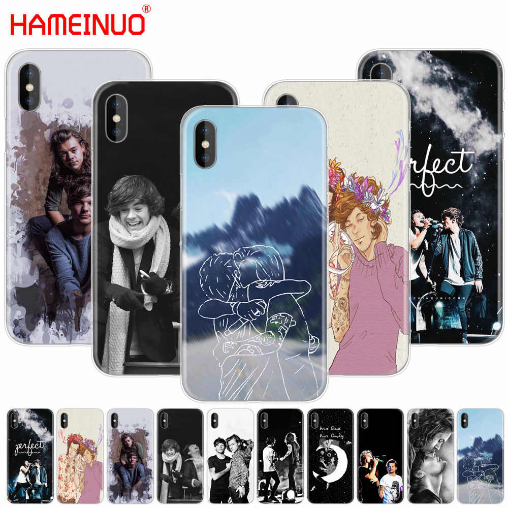 Hameinuo Larry Stylinson Cell Phone Cover Case untuk iPhone X 8 7 6 4 4 S 5 5 S SE 5C 6 S PLUS