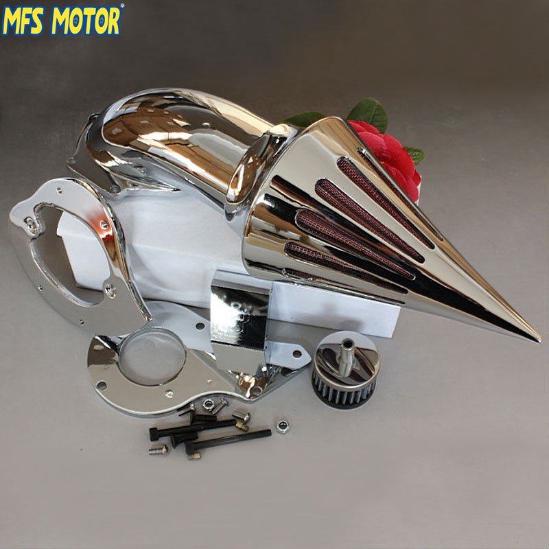 motorcycle parts Spike Air Cleaner Kits intake filter for Honda Shadow 600 VLX600 1999 2012 CHROM
