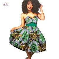أفريقي النساء فساتين 2017 فساتين الصيف فستان مثير حمالة dashiki الأفريقية طباعة الشمع خارج قبالة فستان الكتف خمر WY1578