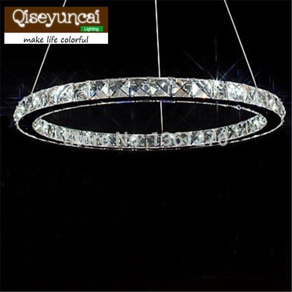 LED лампочками Хрустальная 40 LED Модный Круглый Нержавеющаясталь покрытие Открытый Подвесные Светильники AC90-240V