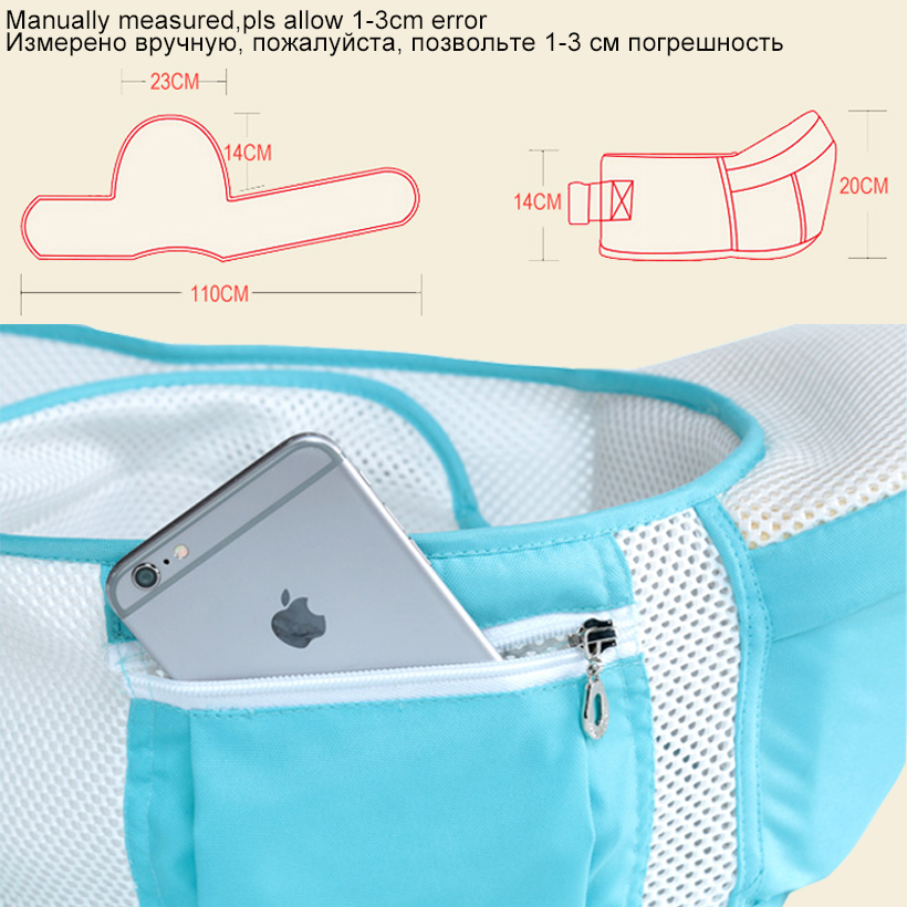 Image 4 - 0 36 Months 20kg Summer Breathable Mesh Ergonomic Baby Carrier Hipseat Backpack Kangaroo Baby Sling Wrap Hip Seat Waist Stool-in Backpacks & Carriers from Mother & Kids