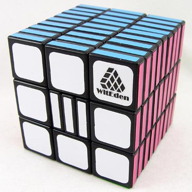 WitEden 3x3x9 Cubo Mágico Iq Puzzle Cubos de Velocidad Profesional Completamente Funcional Cubo Mágico Juguetes Negro para Los Niños