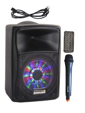 "STARAUDIO Professional eight"" 800W PA DJ Rechargeble Battery Speaker Bluetooth UHF Microphone LED Lighting SBM-8RGB"