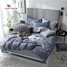 Slowdream フラットシート寝具セット北欧ダブルツイン布団カバーセット家の装飾のベッドリネンセット寝具大人寝具