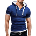 Masculina Fitness Short Sleeve Sexy T shirts Men Black Hoody Camisetas Thermal Bodybuilding Compression Tights shirt Size M-XXL