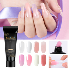 RBAN NAIL 20ml Quick Poly Extension Gel Clear Pink White Nude Nail Tips UV LED Acrylic Builder Art
