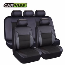 купить Car-pass New Leather Auto Car Seat Covers  Universal Automotive car seat cover  for car lada granta toyota nissan lifan x60 по цене 2841.02 рублей