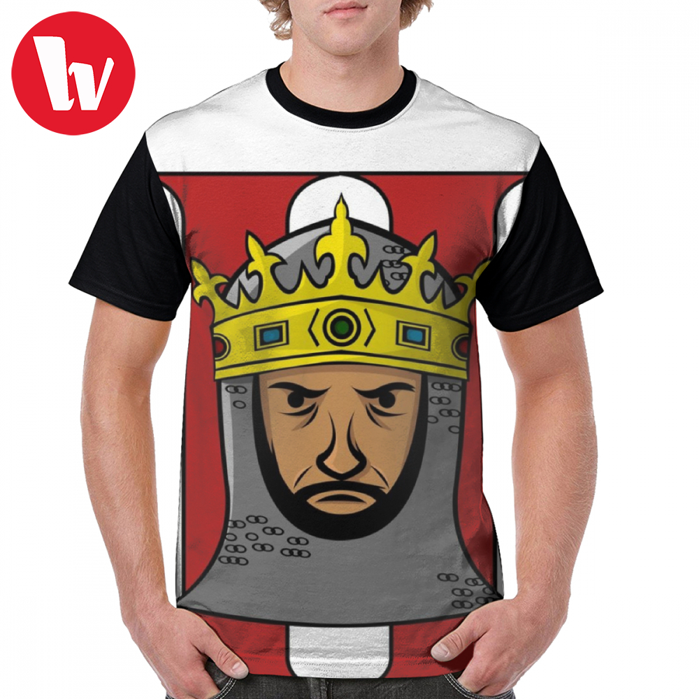 King T Shirt King Of Age Of Empires 2 T-Shirt Polyester Printed Graphic Tee Shirt Fun Short Sleeves Men 6xl Casual Tshirt image