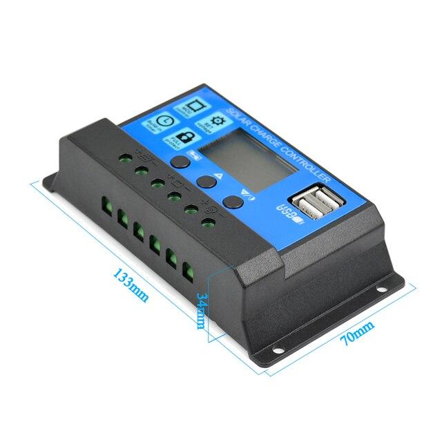 SUNYIMA controlador de carga Solar 12V 24V 50A 40A 30A 20A automático controlador de Panel Solar USB Universal de carga de 5V pantalla LCD