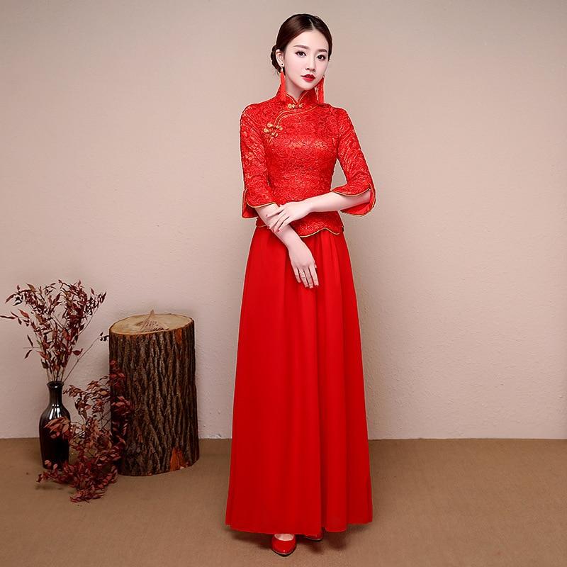 Excelente Vestido De Novia Chino Moderno Ideas Ornamento Elaboración ...