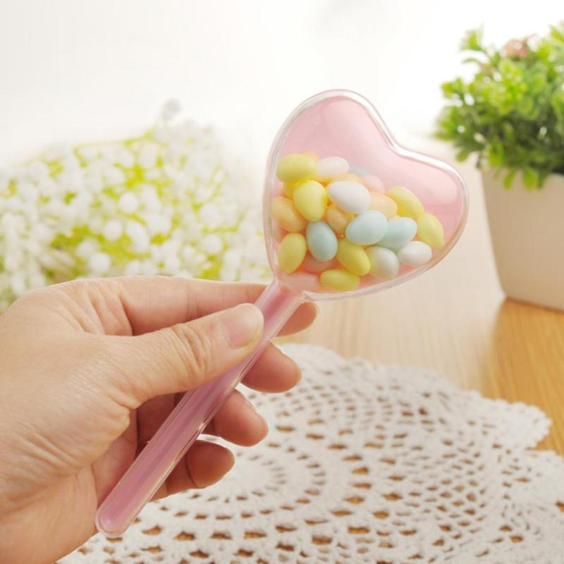 12pcs/Pack Heart Shape Stick Plastic Clear Candy Box Case Wedding Favors Gifts Party Decoration(Random Color)12pcs/Pack Heart Shape Stick Plastic Clear Candy Box Case Wedding Favors Gifts Party Decoration(Random Color)