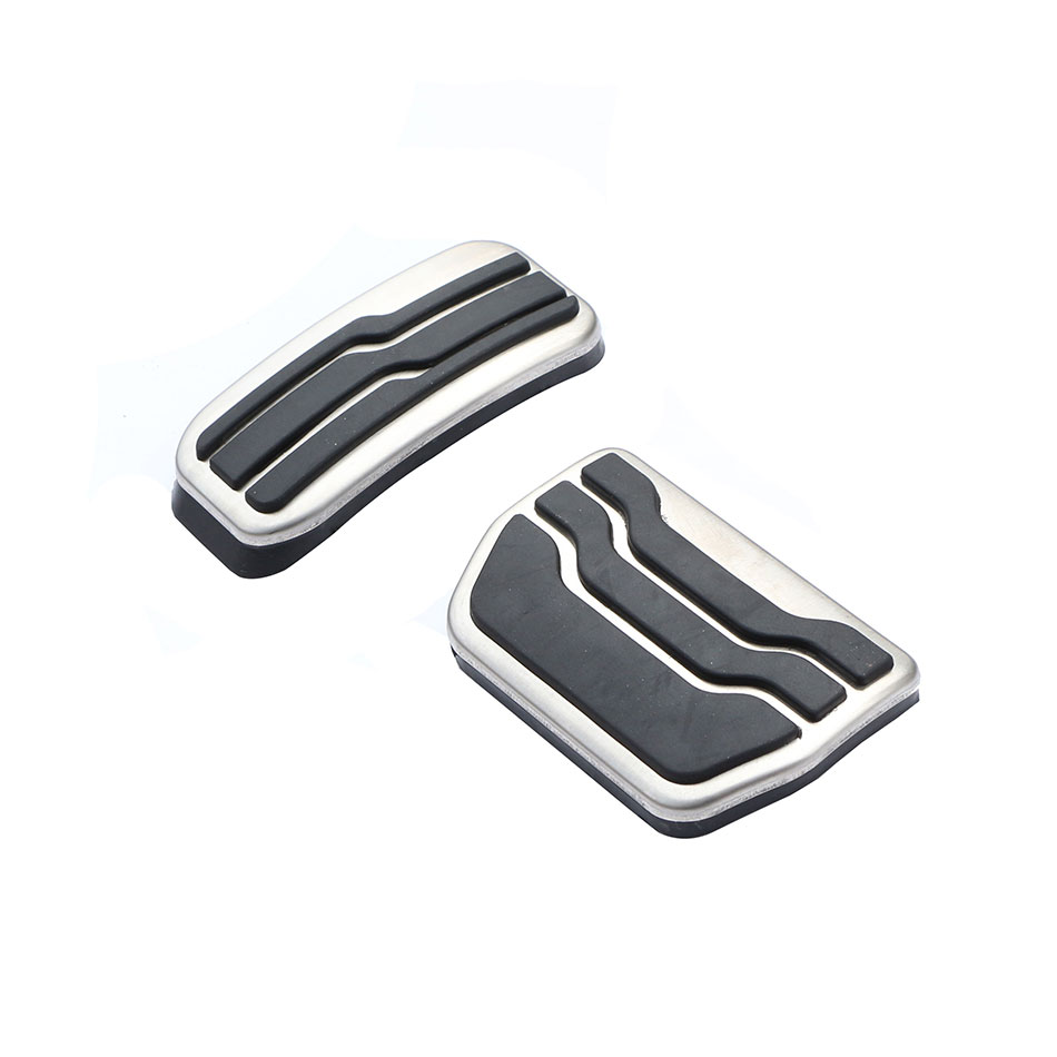 2 Pcs/Set Stainless Steel Car Gas Brake Pedal Pads Pedals Cover for Ford New Mondeo EDGE AT 2015 - 2017 Auto Accessories steel motorcycle brake pads for yamaha jym90 2 pcs