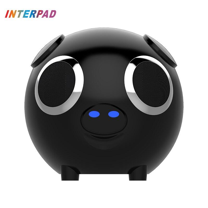 2018 Interpad sans fil Bluetooth Mini haut-parleur Portable mignon forme animale batterie externe Soundbox Support TF AUX pour Xiaomi Huawei