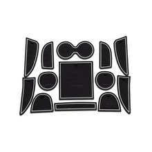 Dongzhen Auto Car Styling Car Interior Accessories Anti-slip Mat Silicone Pad Door Groove Mat Cushion For Infiniti Q50 Q50L