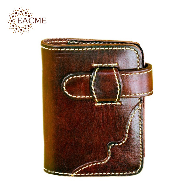 Eacme Handmade Business Card Holder 20 Bank Bags Packs Coin Package Vintage Vegetable Tanned Leather