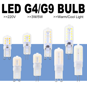 8PCS G9 LED Bulb 5W 3W Bombillas G4 Dimmable Lamp 220V Corn Chandelier Light 2835SMD Ampoule Replace Halogen
