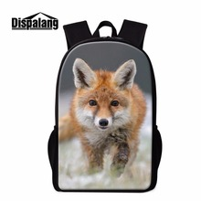 Dispalang Fox Rucksack Muster Mädchen Trendy Schule rucksack Niedlichen Tier Bookbags für Jugendliche Jungen Rucksack Schulter Mochilas