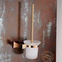 Copper Rose Gold Bathroom Hardware Suite Toilet Brush Toilet Brush Holder European Bathroom Accessories YM096