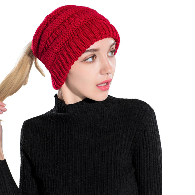 KANCOOLD Fashion Winter Hat Women Crochet Knit Cap Skullies Beanies Warm  Caps Female Knitt Hats Ladies Skull Slouchy Caps PJ0823 b4dcdae4bd3
