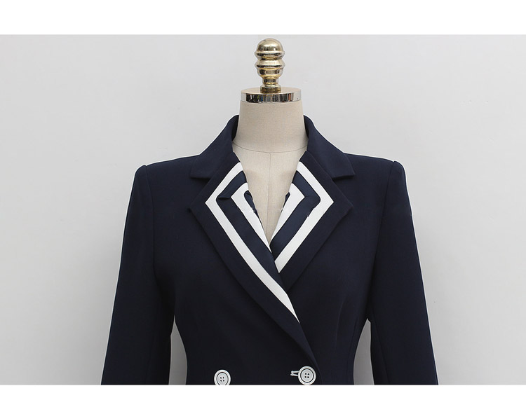 Professional suit female 2019 autumn new two-piece temperament Slim double-breasted suit jacket fashion pants women's clothing