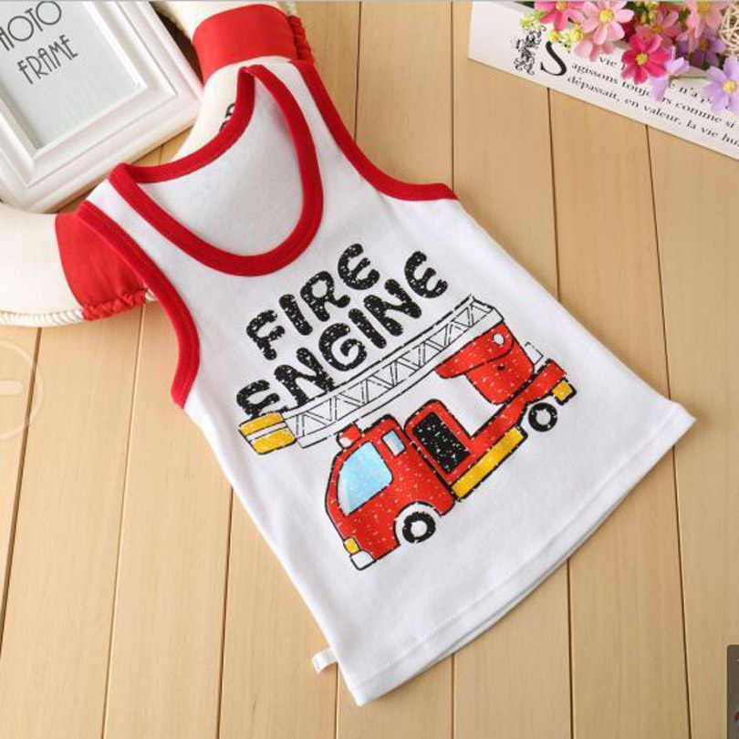Baby Boy Girl Summer Vest T-Shirt Kids Cartoon Animal Cotton Undershirts Tee T Shirt Children Clothing for Size 1 2 3 4 5 6 Year