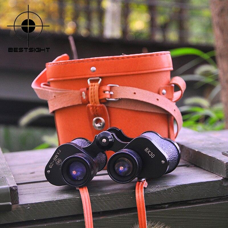 Baigish Russian Binocular 8x30 Professional Military Telescope Night Vision Hd Binoculars For Hunting Travel Wide-Angle Scope Бинокль